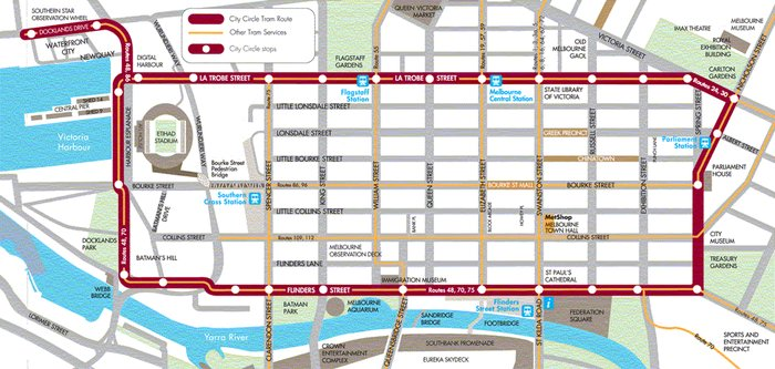 Getting Around Melbourne Melbourne Travel Guide – Melbourne Map For Tourist